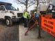 Crews attach snowplow to City of Gastonia truck