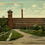 Postcard showing Loray Mill building in 1908.