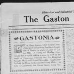 "Section of Gaston Progress newspaper from 1912 describing Gastonia as a ""City of Magic Energy"""