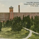Postcard of Loray Mill from 1915 described as Largest Cotton Mill Under on Roof in The South