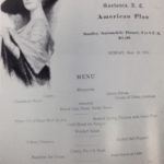 Menu from Armington Hotel, Sept. 12, 1915