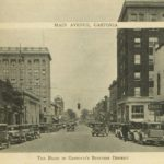 Cars fill Main Avenue in 1936