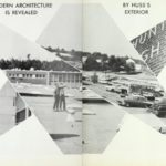 Two pages showing architecture at Hunter Huss High School