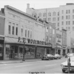 Woolworths building and downtown Gastonia