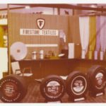 Display of tires by Firestone Textiles