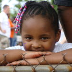 Young girl at Hope for Gaston event
