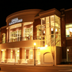 Gastonia Conference Center exterior at night