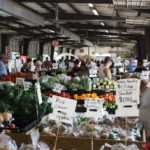 Fruits and vegetables on display at Farmers Market