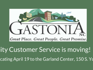 Gastonia logo with words Customer Service is Moving