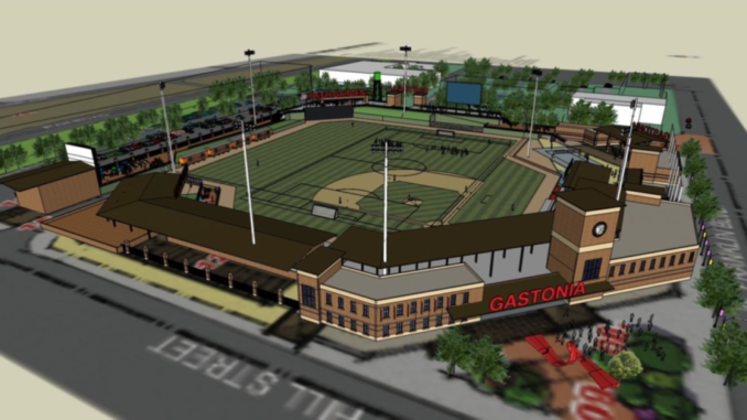 Rendering of FUSE baseball stadium