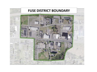 Map showing FUSE District boundaries