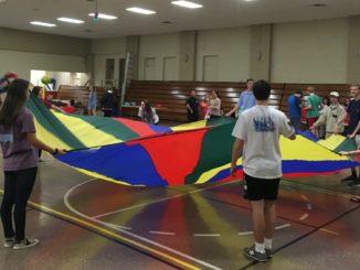 Teenagers having fun at recreation center