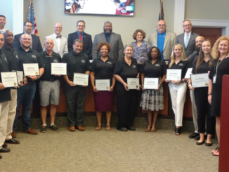 Municipal Citizens Academy graduates with City Council