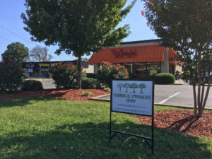 landscaping award sign at Bojangles