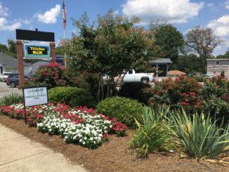 landscaping award sign at Teacher Box