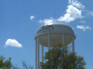 Water tower with Gastonia logo