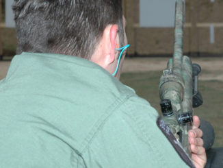 Rifle shooter at the shooting range