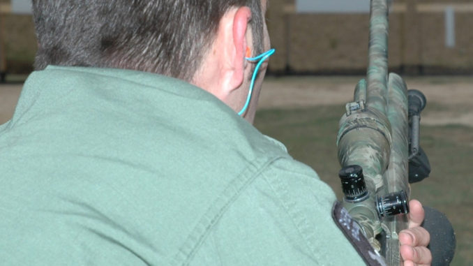 Rifle shooter at the shooting range