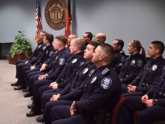 Police Chief Helton speaks at promotion and swearing in ceremony