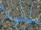 Section of floodplain map in Gastonia