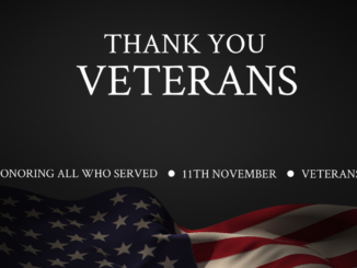 Thank you veterans with American flag