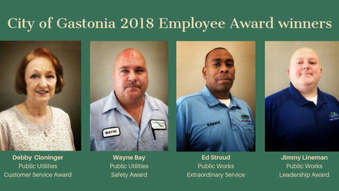 Names and photos of City's four Employee Award winners