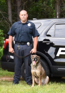 Officer Justice and K-9 Taz