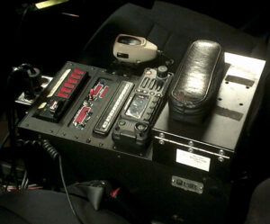 Mobile radio mounted in police car