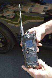 Hand-held police radio