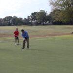 Vincent Wong golfs