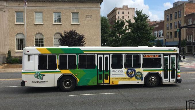 Gastonia Transit bus on street