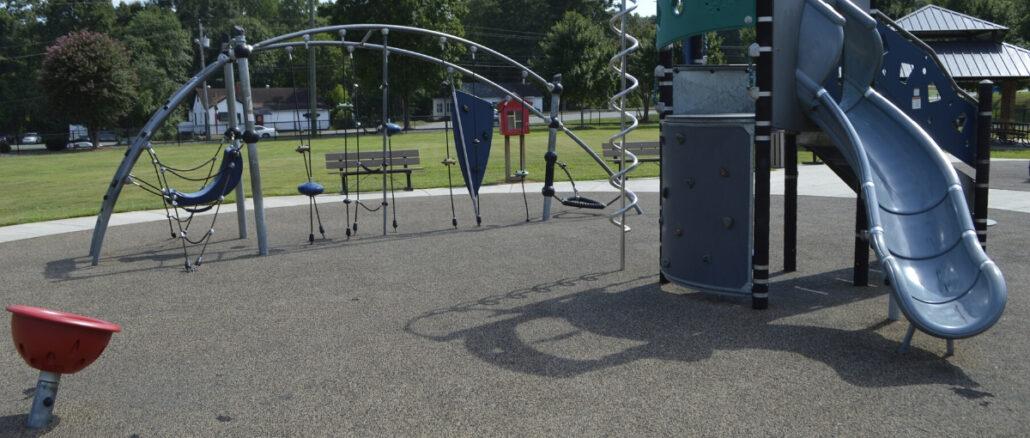 Playground with no children playing