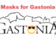 """Gastonia logo with masked face in place of the letter """"o"""""""