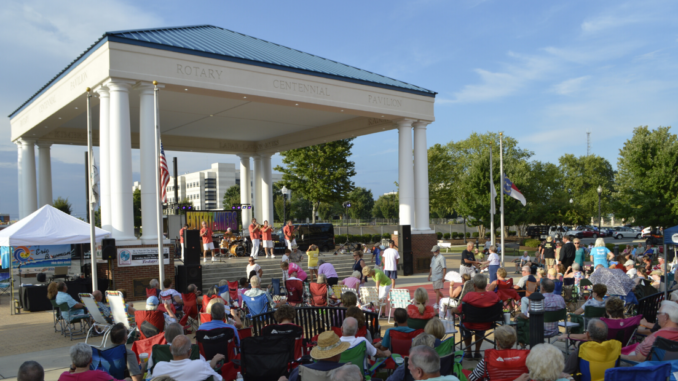 Crowd of people at Rotary Pavilion concert