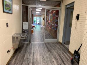 New flooring in hallway