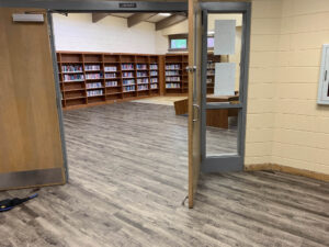 New flooring in library