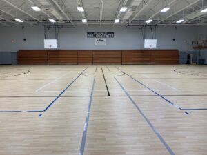 New gymnasium floor
