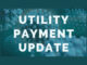 Coronavirus image with words Utility Payment Update
