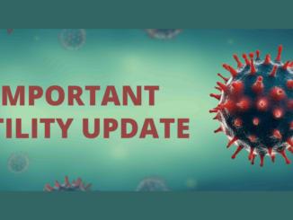 Important Utility Update with coronavirus image