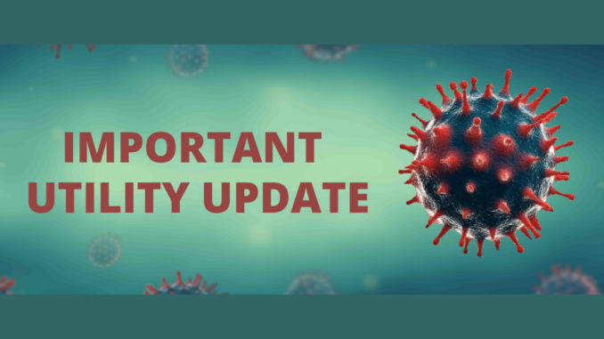 Important Utility Update with coronavirus image