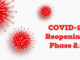Coronavirus images with words COVID-19 reopenings Phase 2.5