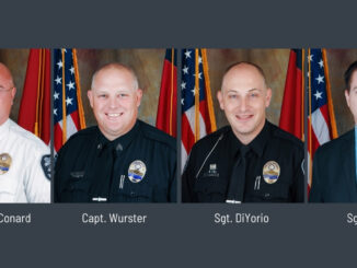 Individual photos of four police officers