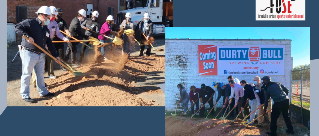 City leaders turn ceremonial shovels of dirt at two locations