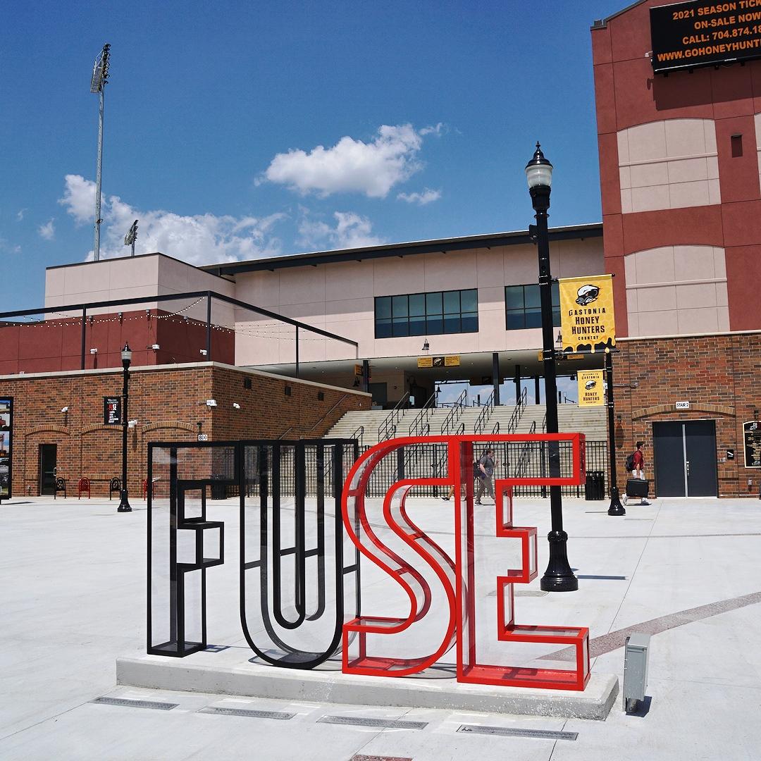 FUSE sign outside ballpark