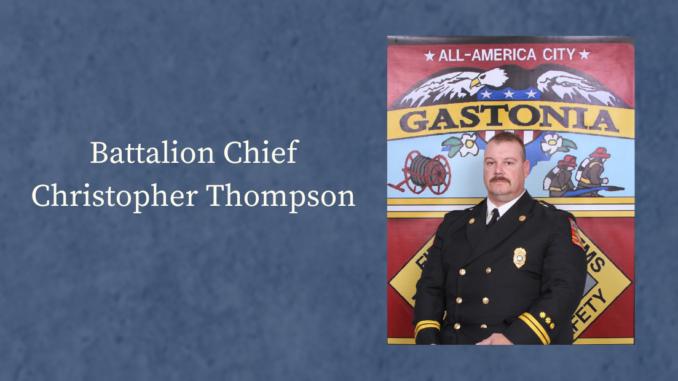 Photo of Battalion Chief Christopher Thompson