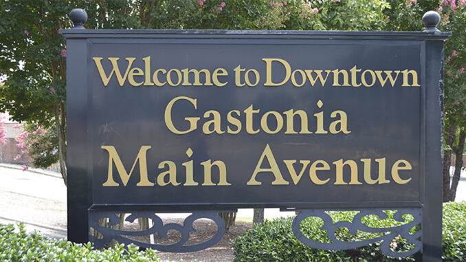 Welcome to Gastonia sign